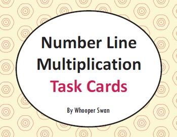 Number Line Multiplication Task Cards