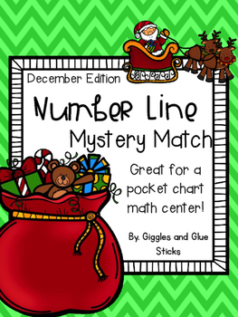 Number Line Mystery Match December Freebie