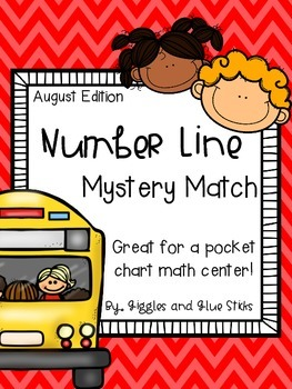 Number Line Mystery Match for August