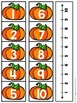 Number Line Mystery Match for October