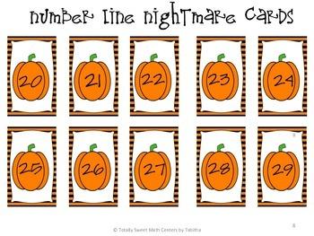 Number Line Nightmare- a Halloween themed Number Line Activity Gr. k-2