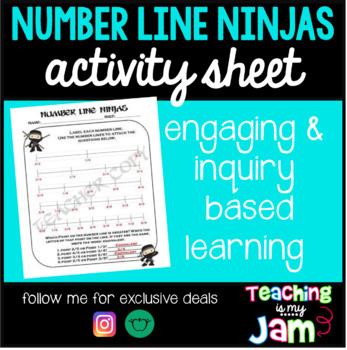 Number Line Ninjas - Fractions Activity