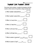 Number Line Number Sense