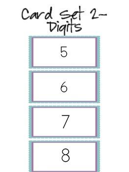 Number Line Number Sense Math Meeting Grades k-1