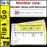 Number Line Number Sense with Decimals - Flip and Go Cards