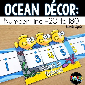 Number Line: Ocean-themed