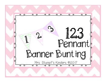 Number Line Pennant Banner Bunting Pink, Mint, And Purple