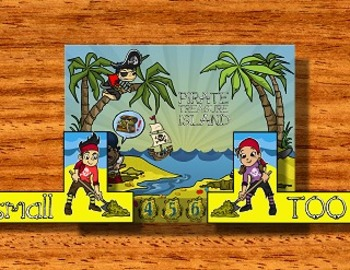 Number Line Pirates -- A Kindergarten Math Game for Number Line Concepts!