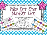 Number Line - Polka Dot Stars