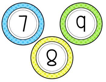 Number Line [Polka Dot Theme]