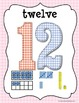 Number Line Posters ~Pastel & Gingham~