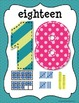 Number Line Posters~Turquoise, Lime, & Pink~
