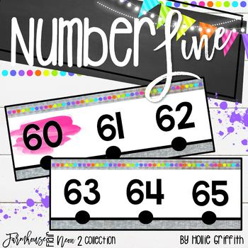 Number Line Posters -100 to 250 {Farmhouse Flair Neon 2}
