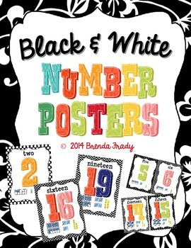 Number Line Posters ~Black & White~