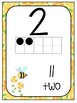 Number Line Posters: Busy Bee