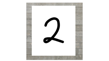 Number Line Posters - Shiplap