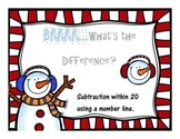 Number Line Practice 1-20 {WINTER THEME}