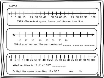 Number Line Addition And Subtraction 2nd Grade By Milliebee Tpt