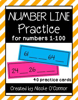 Number Line Practice Cards
