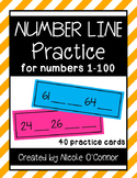 Number Line Practice Cards