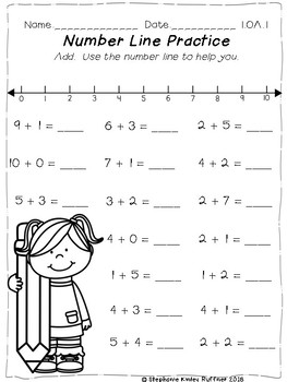 Number Line Practice Pages
