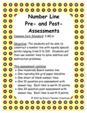 Number Line Pre- and Post-Assessments