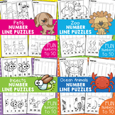 Ordering Numbers - Worksheet Line Puzzles - Bundle 1