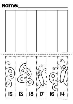 Ordering Numbers - Worksheet Line Puzzles - Bundle 1