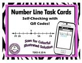 Number Line QR Code Task Cards