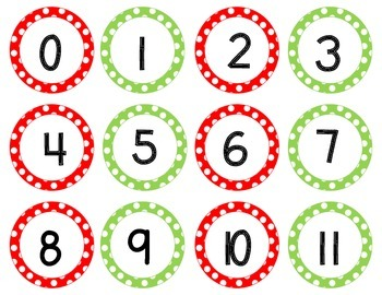 Number Line - Red and Green Style