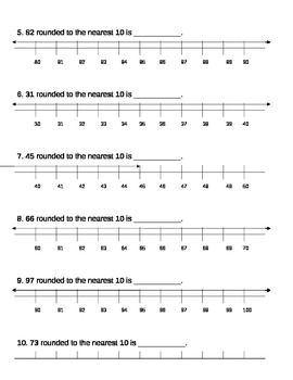 Number Line Rounding