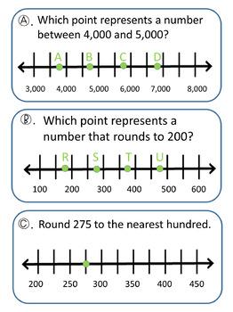 Number Line Rounding Scavenger Hunt TEKS 3.2C