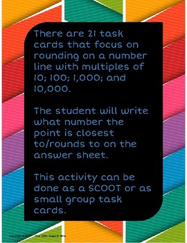 Number Line Rounding Task Cards