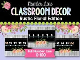 Number Line: Rustic Floral Classroom Decor