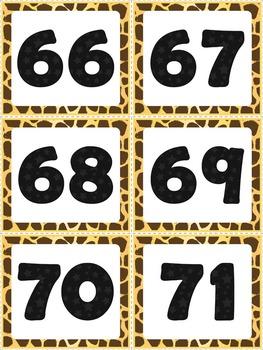 Number Line - Safari Style Theme {Jungle and Animal Print}