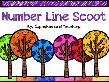 Number Line Scoot-ClipCards!