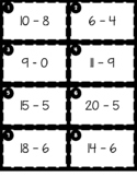 Number Line Scoot (Addition & Subtraction to 20)