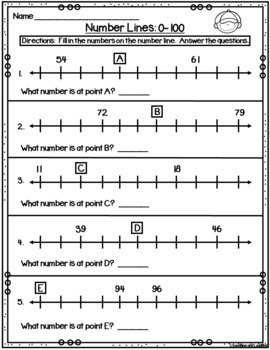 Number Line Scoot (Numbers 0-100)