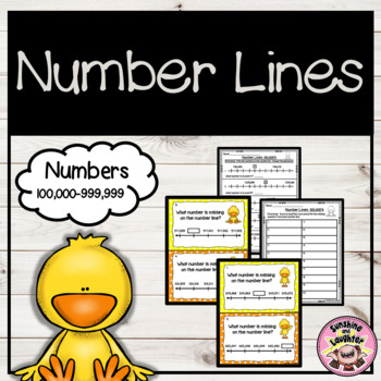 Number Line Scoot (Numbers 100,000-999,999)
