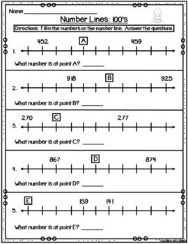 Number Line Missing Numbers From 100-999
