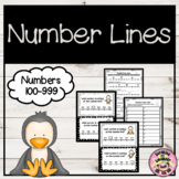 Number Line Missing Numbers Hundreds