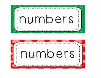 Number Line Set