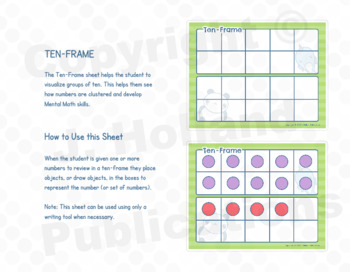 "Math Fundamentals Toolbox: Sheets ""0-99 Number Line"" and ""Ten-Frame"""