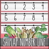 Number Line: Shiplap & Watercolor Decor