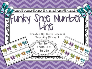 Number Line - Shoe Theme