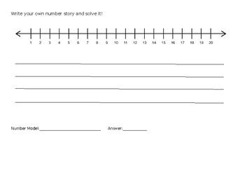 Number Line Stories (editable)
