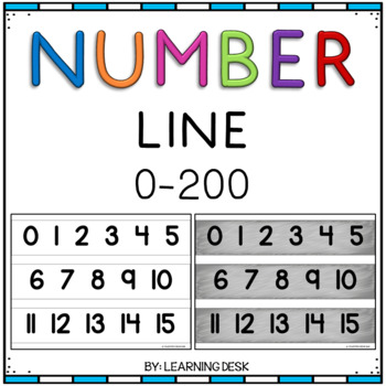 Classroom Number Line Wall Display (Chalkboard and White)