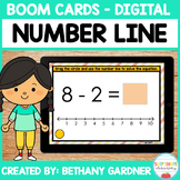 Number Line Subtraction - Boom Cards - Distance Learning