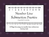 Number Line Subtraction Practice
