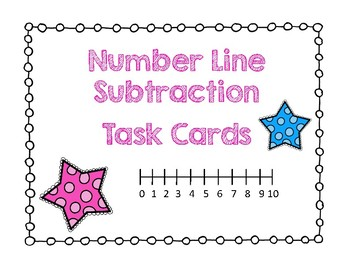Number Line Subtraction Task Cards